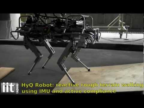 HyQ - IIT's Hydraulic Quadruped Robot - Balancing and First Outdoor Tests