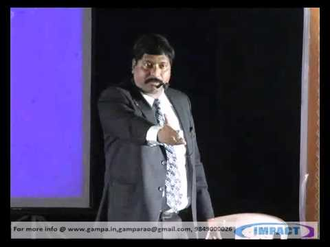 GOAL SETTING by GAMPA NAGESHWER RAO at IMPACT 2012 HYDERABAD