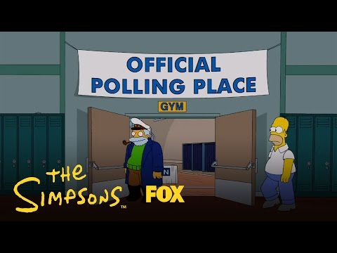 Homer Simpson Votes For The 2012 US President