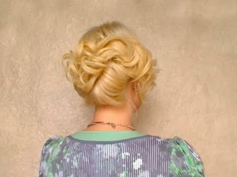 French twist hair tutorial: romantic elegant curly prom updo hairstyles for long hair wedding 2011