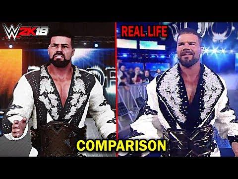 WWE 2K18 VS REAL LIFE - Bobby Roode Entrance Comparison! - UCeR7VYq8u0ztlwOI8kK5KDA
