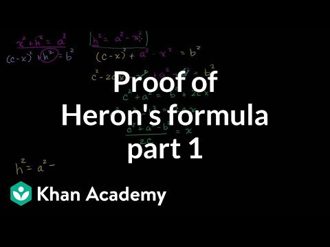 Part 1 of Proof of Heron's Formula