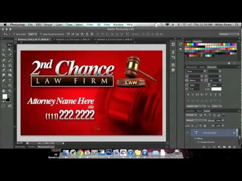 How to Create Quick Business Card in Adobe Photoshop CS6