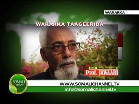 WARKA SOMALI CHANNEL GUD Cusub Prof Jawaari oo Meela badan Laga soo taageeray 29 08 2012