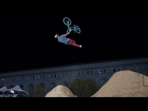 GoDaddy.com BMX Dirt Best Trick Highlights Dew Tour 2012 - Kyle Baldock Frontflip Cliffhanger & More