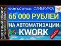 65000 РУБЛЕЙ НА АВТОМАТИЗАЦИИ KWORK / ЧЕСТНЫЙ ОБЗОР / СЛИВ КУРСА