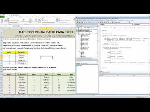 4.4.2 Ejemplo1  Estructura Select Case: Curso de Macros y Visual Basic para Excel