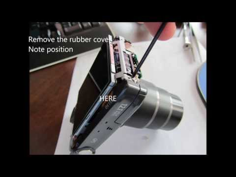 Canon camera SX260 HS disassembly for lens jam repair or LCD screen loose connections.