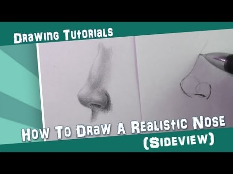 How To Draw a Realistic Nose || Sideview