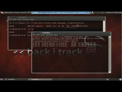 Cracking WPA2 Backtrack 5 (HD)