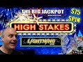 ⚡ $75 / SPIN LIGHTNING LINK ⚡ FINALLY BIG WIN on HIGH STAKES 💣