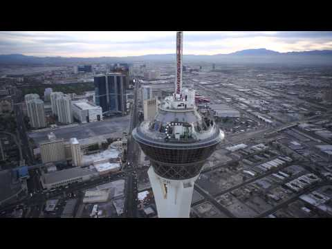 Flying Down Low Around Las Vegas Back Alleys with my RC UAV Drone for Aerial Photography.
