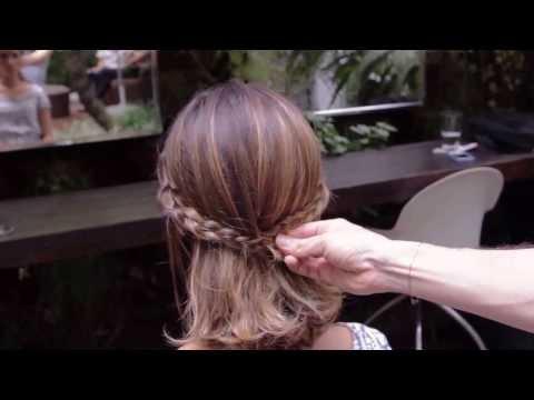 Marcos Proença ensina penteados para corte long bob