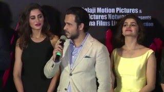 UNCUT: Azhar Trailer Launch   Azharuddin, Emraan Hashmi, Prachi Desai, Nargis Fakhri