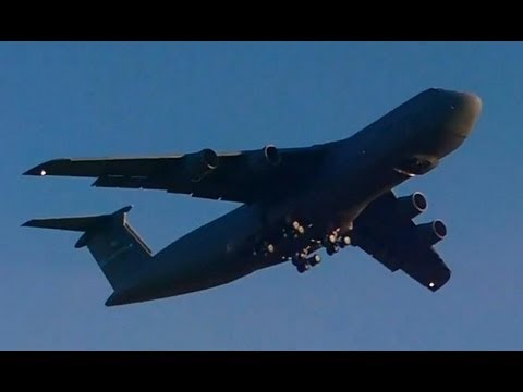 C-5 Galaxy Taking Off - Extremely Loud!!!