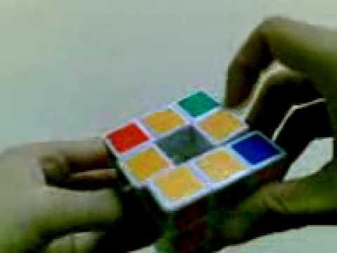 cara bermain rubik tanpa center Part 3 oleh Jeffrey Johan