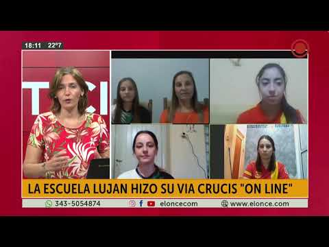 La escuela Lujan hizo su via crusis ¨On line¨