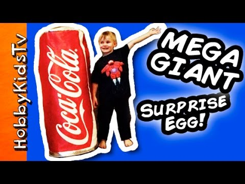 Worlds BIGGEST Coca COLA Surprise Egg! Toys Disney, Minion, Superheroes HobbyKidsTV