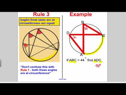 Circle Theorems 1 (GCSE Higher Maths)- Tutorial 13
