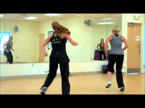 Carly and Janelle Zumba Hip Hop Cardio Party Shawty Got Moves