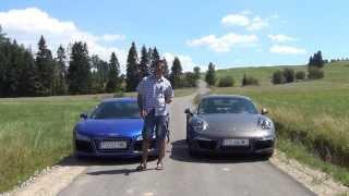Audi R8 V10 vs Porsche 911 4S - por�wnanie AutoCentrum.pl