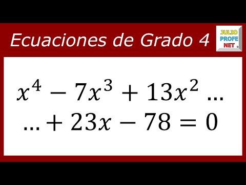 Solución de una Ecuación de cuarto grado