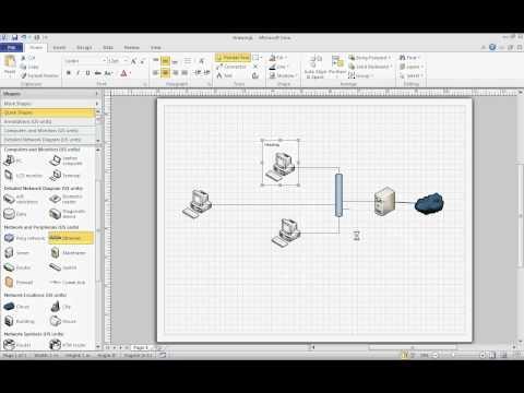 Microsoft Visio 2010 - basic network diagram