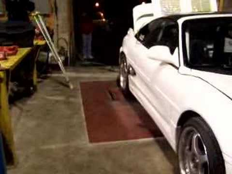 800HP MR2 turbo dyno run - exhaust fire