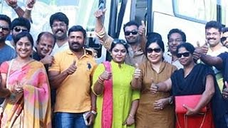Watch Pandavar Ani Kick starts the Canvas trip with 40 members   Vishal, Ponvannan, Kovai Sarala Red Pix tv Kollywood News 09/Oct/2015 online