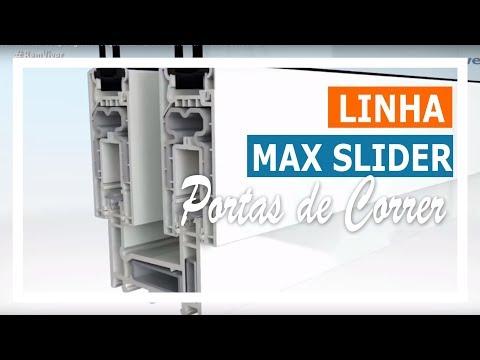 Conhecendo as tipologias de esquadrias - Linha Max Slider - Portas de Correr