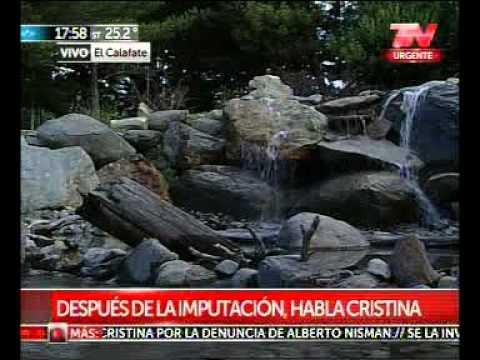 <b>Cristina Kirchner en El Calafate. </b>Evit� hablar de la acusaci�n en su contra.