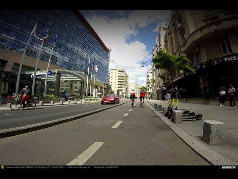 Montaj video: Cu bicicleta prin Bucuresti: Calea Victoriei - Parcul Regele Mihai I / Herastrau (2)