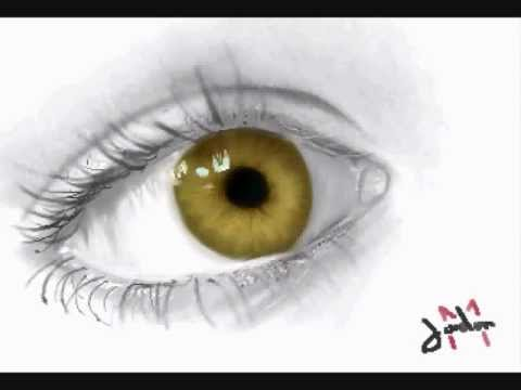 How to draw a realistic eye - Time lapse -BOqFsDCVX3M
