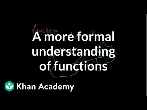 A more formal understanding of functions