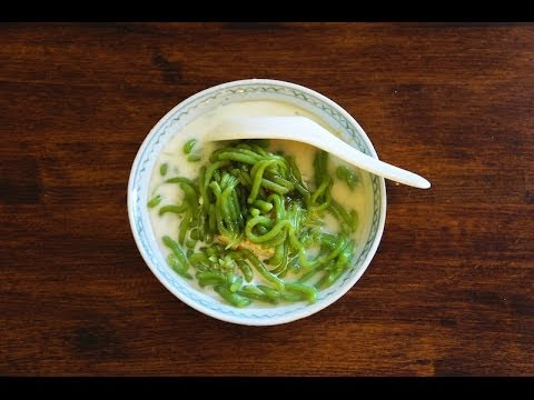 How To Make Cendol With Palm Sugar And Coconut Milk