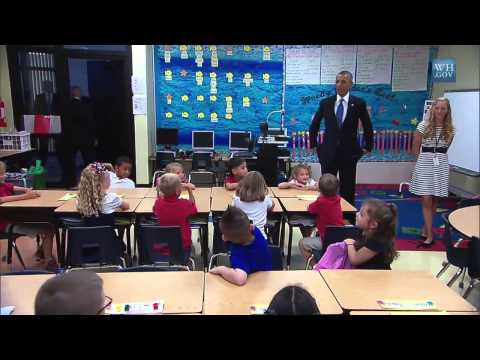 President (Obama) Talks with First-Graders at Tinker Elementary School  9/17/14