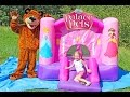 Замок Принцессы Диснея КЛАССНЫЙ БАТУТ для девочек Trampoline Disney Princess Play Castle Развлечения