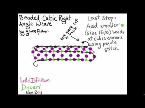 How to Weave Cubic Right Angle Weave with Beads by Gwen Fisher