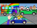 Фрагмент с средины видео - Машинки. Раскраска. Панда, Свинка и Жирафик красят автомобили  #КрошкаАнтошкаТВ