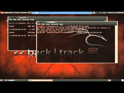 [BT5] -Cracking WPA2 -  [Backtrack 5 / Aircrack] hackear  red   w-fi   [ HD ]