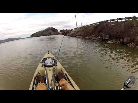 Jerk Bait Style- GoPro Kayak Bass Fishing - Lake Guntersville