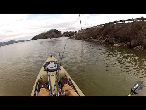 Jerk Bait Style- GoPro Kayak Bass Fishing - Lake Guntersville