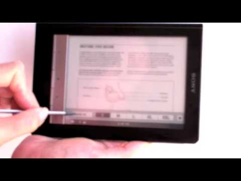 Sony Reader Touch Edition PRS 600 Video Review