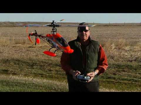 Xheli-s Esky 900 R/C helicopter-s first 3D flying test with 14.4 v and 18.5 v battery!