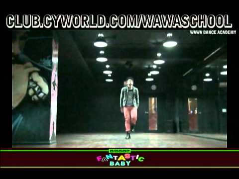 WAWA DANCE ACADEMY BIGBANG FANTASTIC BABY DANCE STEP MIRRORED MODE