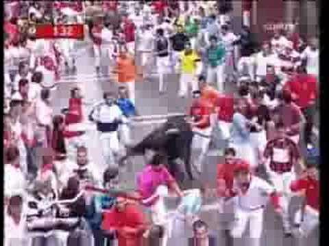 7 ENCIERRO DE SANFERMIN (13 DE JULIO DE 2008)