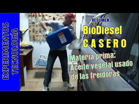 Experimentos caseros. Como hacer biodiesel casero
