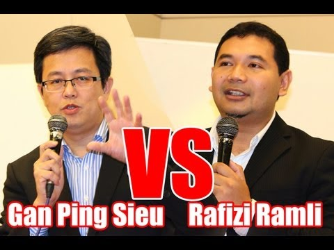 """""""The Future of My Party"""" debate: Gan Ping Sieu vs. Rafizi Ramli"""