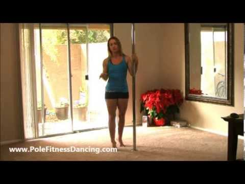 Home Pole Dancing Lesson Video 1: Basic Pole Moves For Beginners Series
