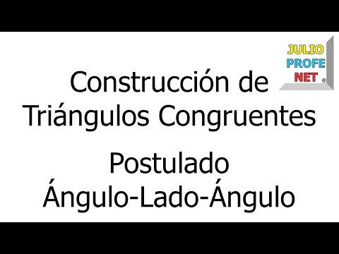 Construcción de un triángulo congruente a uno dado usando el postulado ALA